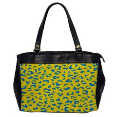 Blue Yellow Space Galaxy Office Handbags by Mariart