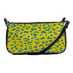 Blue Yellow Space Galaxy Shoulder Clutch Bags by Mariart