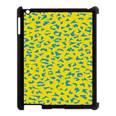 Blue Yellow Space Galaxy Apple Ipad 3/4 Case (black) by Mariart