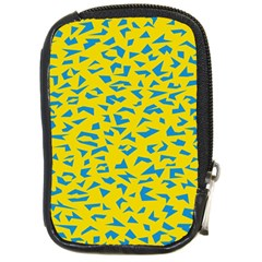 Blue Yellow Space Galaxy Compact Camera Cases by Mariart