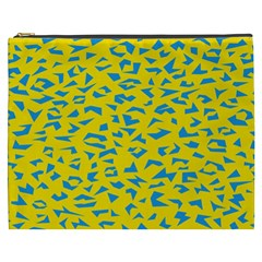 Blue Yellow Space Galaxy Cosmetic Bag (xxxl)  by Mariart