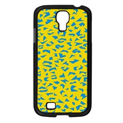 Blue Yellow Space Galaxy Samsung Galaxy S4 I9500/ I9505 Case (black) by Mariart