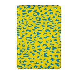 Blue Yellow Space Galaxy Samsung Galaxy Tab 2 (10 1 ) P5100 Hardshell Case  by Mariart