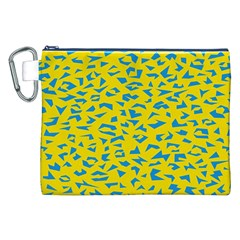 Blue Yellow Space Galaxy Canvas Cosmetic Bag (xxl) by Mariart
