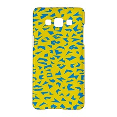 Blue Yellow Space Galaxy Samsung Galaxy A5 Hardshell Case  by Mariart