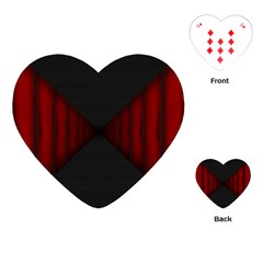 Black Red Door Playing Cards (heart)  by Mariart