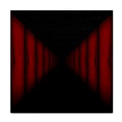 Black Red Door Face Towel