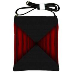 Black Red Door Shoulder Sling Bags by Mariart