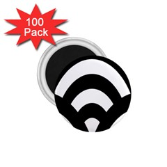 Circle White Black 1 75  Magnets (100 Pack)  by Mariart