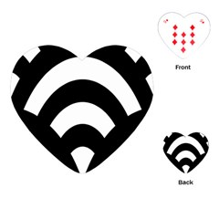 Circle White Black Playing Cards (heart)  by Mariart