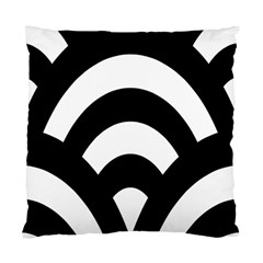 Circle White Black Standard Cushion Case (two Sides) by Mariart
