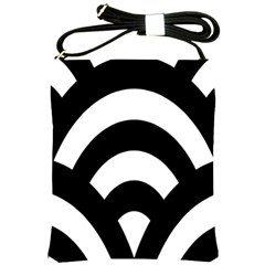Circle White Black Shoulder Sling Bags by Mariart
