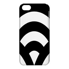 Circle White Black Apple Iphone 5c Hardshell Case by Mariart