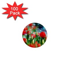 Colorful Flowers 1  Mini Magnets (100 Pack)  by Mariart