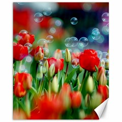 Colorful Flowers Canvas 16  X 20