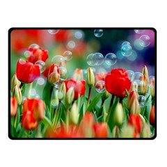 Colorful Flowers Double Sided Fleece Blanket (small)  by Mariart