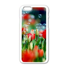 Colorful Flowers Apple Iphone 6/6s White Enamel Case by Mariart