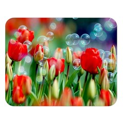 Colorful Flowers Double Sided Flano Blanket (large)  by Mariart