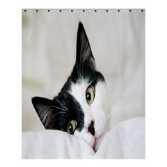 Cat Face Cute Black White Animals Shower Curtain 60  X 72  (medium)  by Mariart
