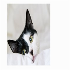 Cat Face Cute Black White Animals Large Garden Flag (two Sides) by Mariart