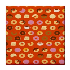 Coffee Donut Cakes Face Towel