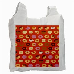 Coffee Donut Cakes Recycle Bag (two Side)  by Mariart