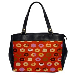 Coffee Donut Cakes Office Handbags by Mariart