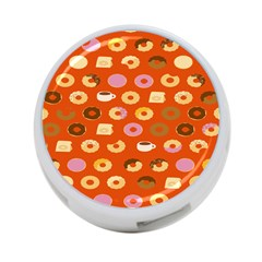 Coffee Donut Cakes 4 Port Usb Hub (two Sides)  by Mariart