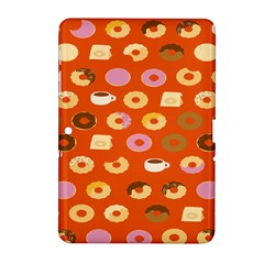 Coffee Donut Cakes Samsung Galaxy Tab 2 (10 1 ) P5100 Hardshell Case  by Mariart