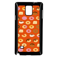 Coffee Donut Cakes Samsung Galaxy Note 4 Case (black) by Mariart