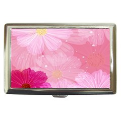 Cosmos Flower Floral Sunflower Star Pink Frame Cigarette Money Cases by Mariart