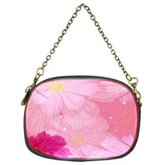 Cosmos Flower Floral Sunflower Star Pink Frame Chain Purses (two Sides)  by Mariart