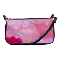 Cosmos Flower Floral Sunflower Star Pink Frame Shoulder Clutch Bags by Mariart