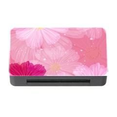 Cosmos Flower Floral Sunflower Star Pink Frame Memory Card Reader With Cf by Mariart