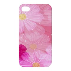 Cosmos Flower Floral Sunflower Star Pink Frame Apple Iphone 4/4s Hardshell Case by Mariart