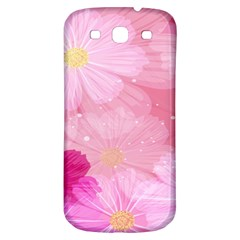 Cosmos Flower Floral Sunflower Star Pink Frame Samsung Galaxy S3 S Iii Classic Hardshell Back Case by Mariart
