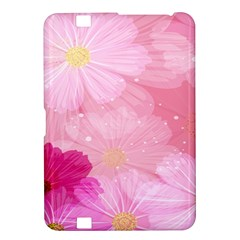 Cosmos Flower Floral Sunflower Star Pink Frame Kindle Fire Hd 8 9  by Mariart