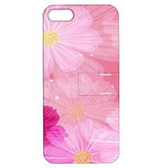 Cosmos Flower Floral Sunflower Star Pink Frame Apple Iphone 5 Hardshell Case With Stand by Mariart