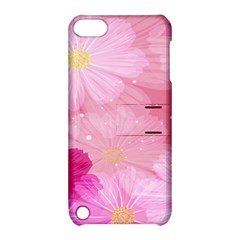Cosmos Flower Floral Sunflower Star Pink Frame Apple Ipod Touch 5 Hardshell Case With Stand by Mariart