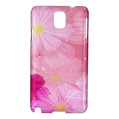 Cosmos Flower Floral Sunflower Star Pink Frame Samsung Galaxy Note 3 N9005 Hardshell Case by Mariart