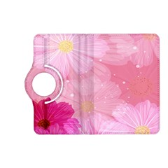Cosmos Flower Floral Sunflower Star Pink Frame Kindle Fire Hd (2013) Flip 360 Case by Mariart