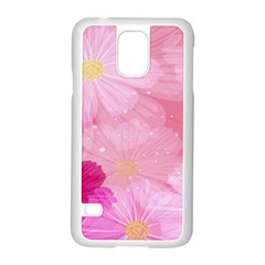 Cosmos Flower Floral Sunflower Star Pink Frame Samsung Galaxy S5 Case (white) by Mariart