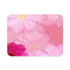 Cosmos Flower Floral Sunflower Star Pink Frame Double Sided Flano Blanket (mini)  by Mariart