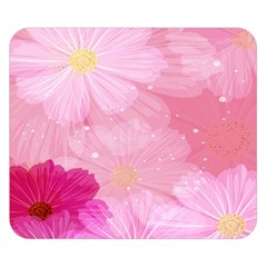 Cosmos Flower Floral Sunflower Star Pink Frame Double Sided Flano Blanket (small)  by Mariart
