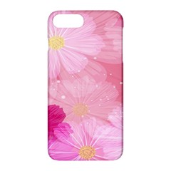 Cosmos Flower Floral Sunflower Star Pink Frame Apple Iphone 7 Plus Hardshell Case by Mariart