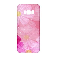 Cosmos Flower Floral Sunflower Star Pink Frame Samsung Galaxy S8 Hardshell Case  by Mariart