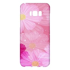 Cosmos Flower Floral Sunflower Star Pink Frame Samsung Galaxy S8 Plus Hardshell Case  by Mariart