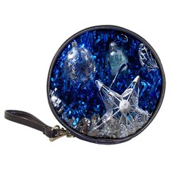 Christmas Silver Blue Star Ball Happy Kids Classic 20 Cd Wallets by Mariart