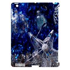 Christmas Silver Blue Star Ball Happy Kids Apple Ipad 3/4 Hardshell Case (compatible With Smart Cover) by Mariart