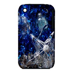 Christmas Silver Blue Star Ball Happy Kids Iphone 3s/3gs by Mariart